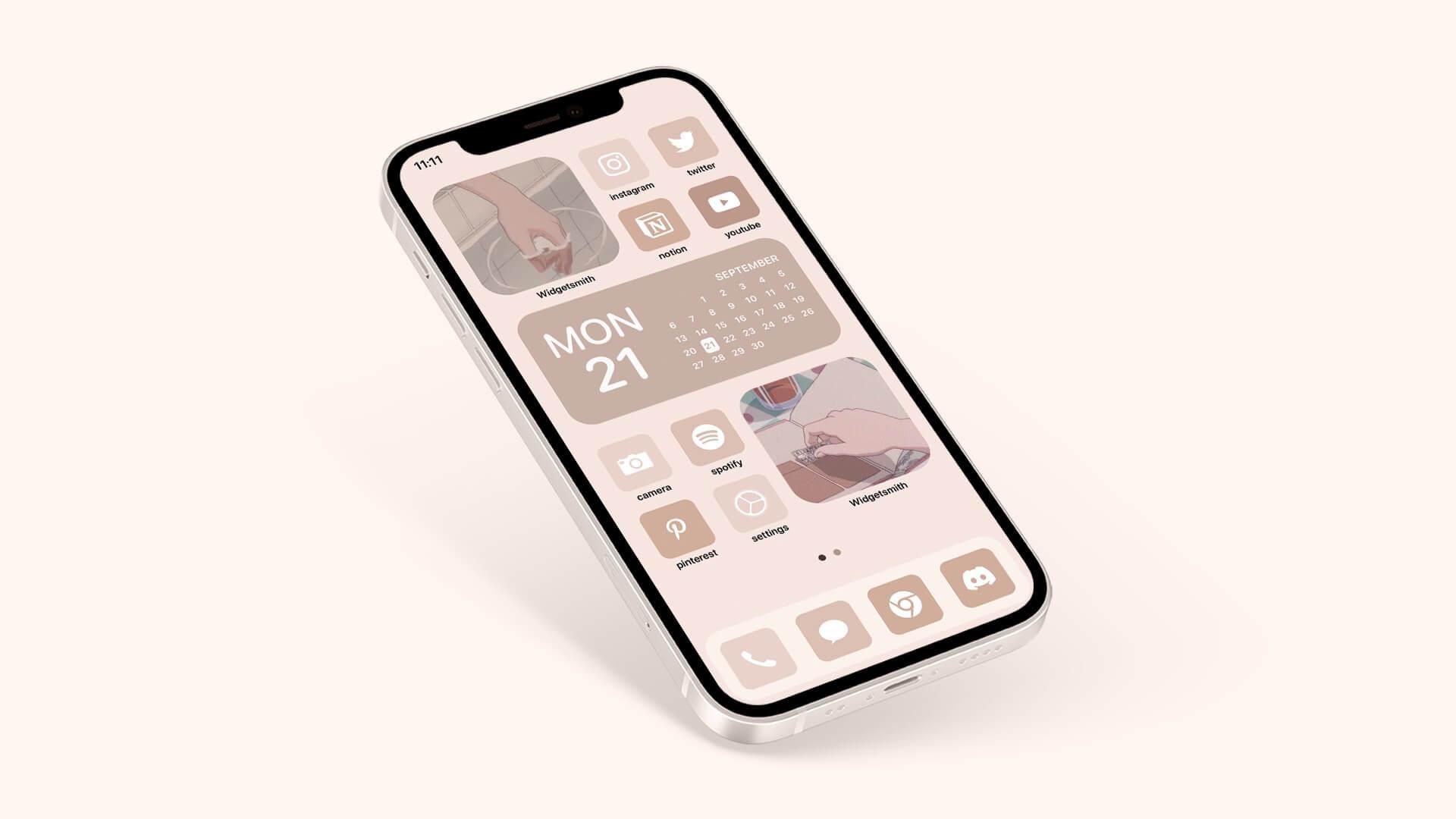Aesthetic Beige App Icons
