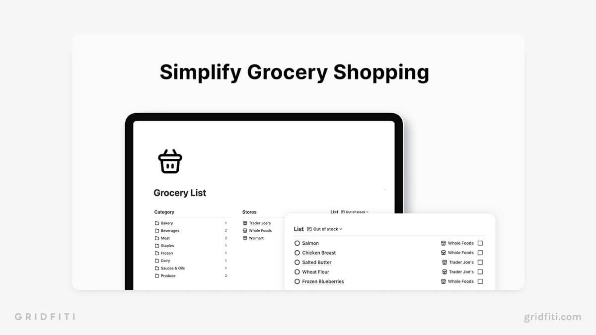 Minimalist Grocery List Template